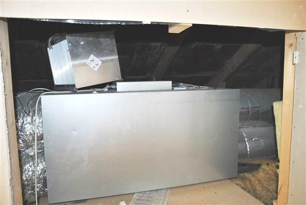 Ventilationssystem med återvinning (används ej av nuvarande ägare)
