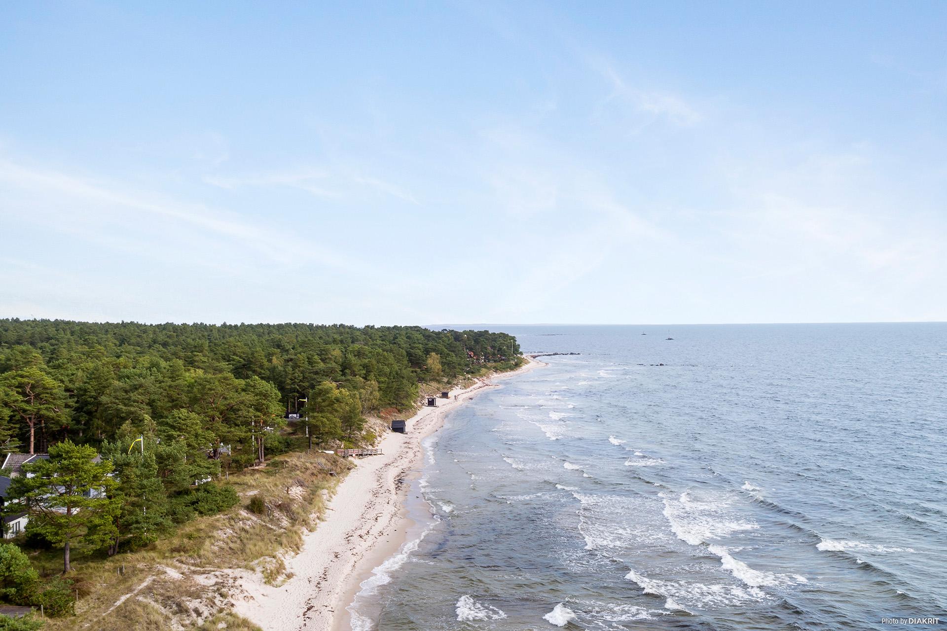 Den underbara stranden - vy norr ut.