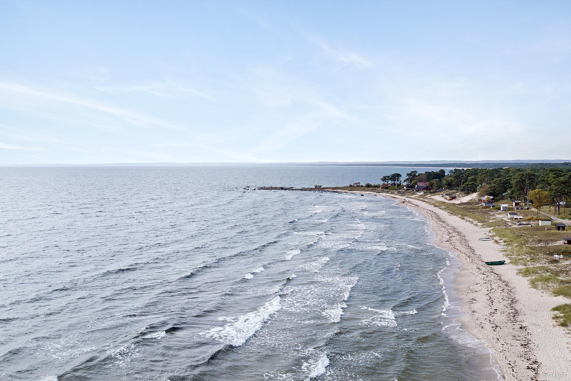 Den underbara stranden - vy söderut