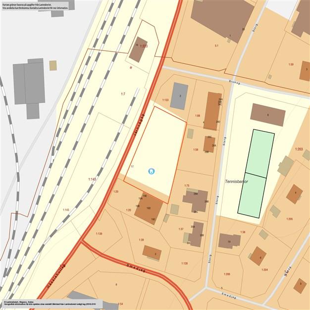 Järnvägsgatan 17 (digital tomtkarta)