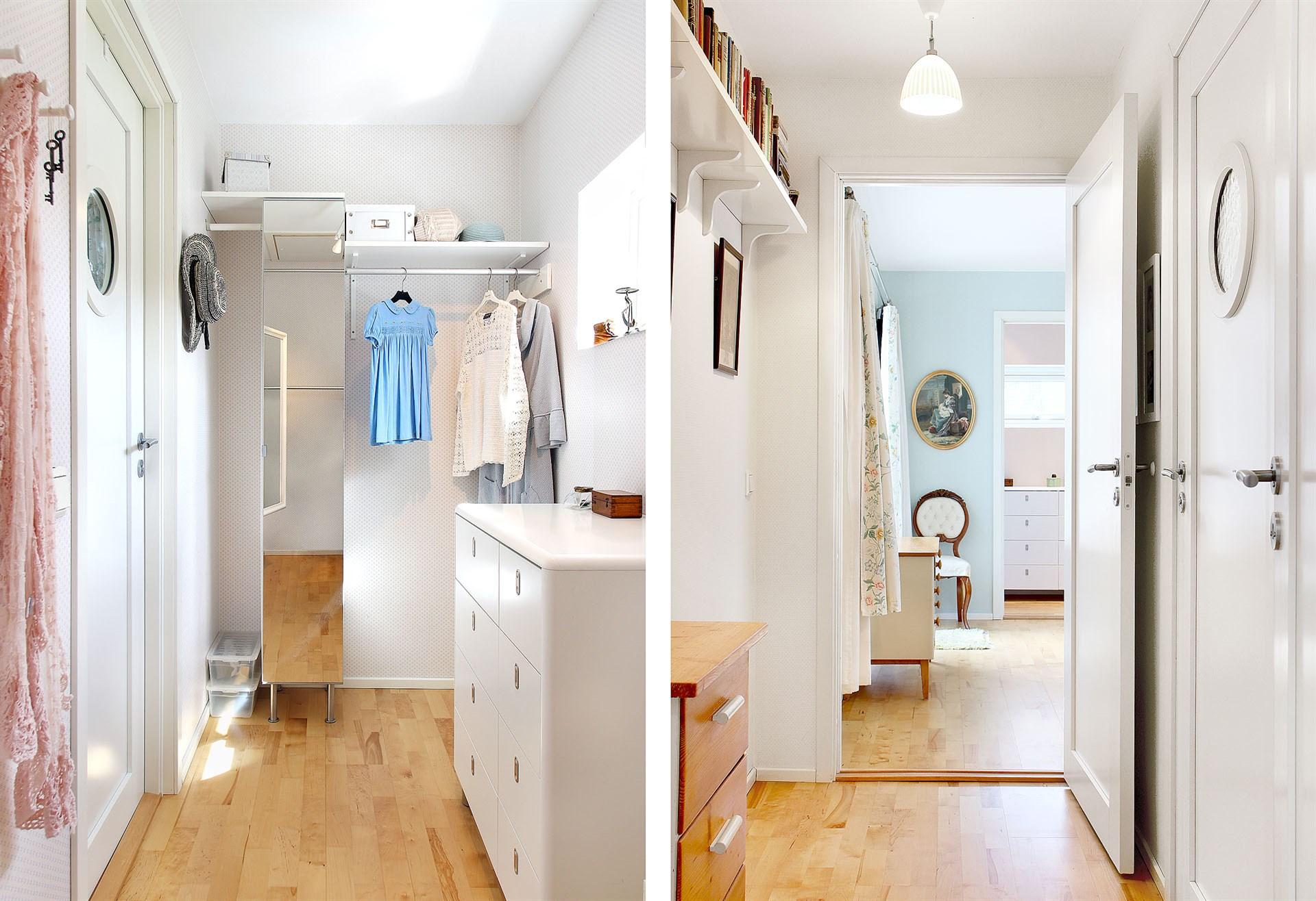 Klädkammare samt passage förbi badrum 2 tillhörande sovrum 4