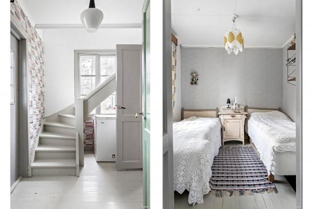 Hall och sovrum