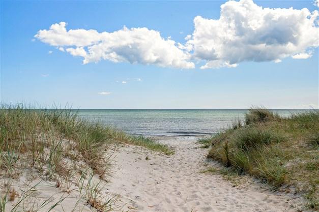 Vacker, härlig sandstrand!