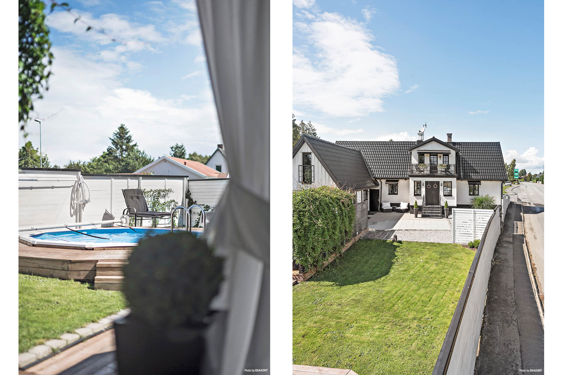 Välkomna! Villan har två entréer. En via en vacker äldre glasveranda och en via den äldre korsvirkebyggnaden.