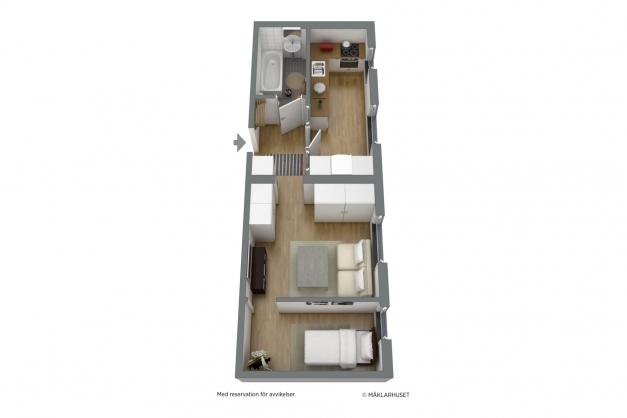 Planskiss möblerad - alternativ planlösning