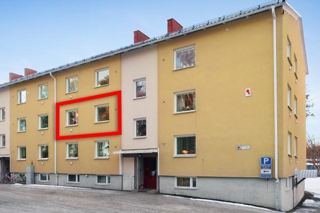 Bostadsrättslägenhet om 3 rok, 2 våningen
