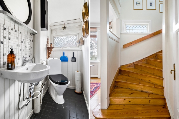 Övre plans badrum mellan två av sovrummen
