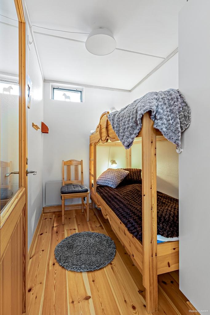 Det mindre sovrummet med våningssäng