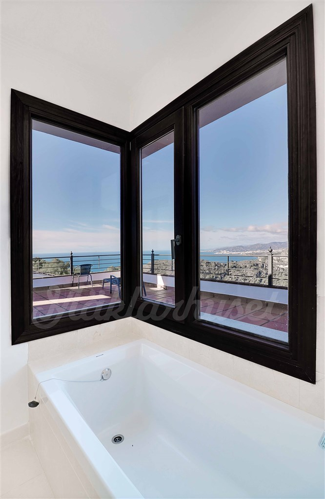 Great views from the bathtub