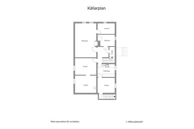 Planlösning källarplan 2D