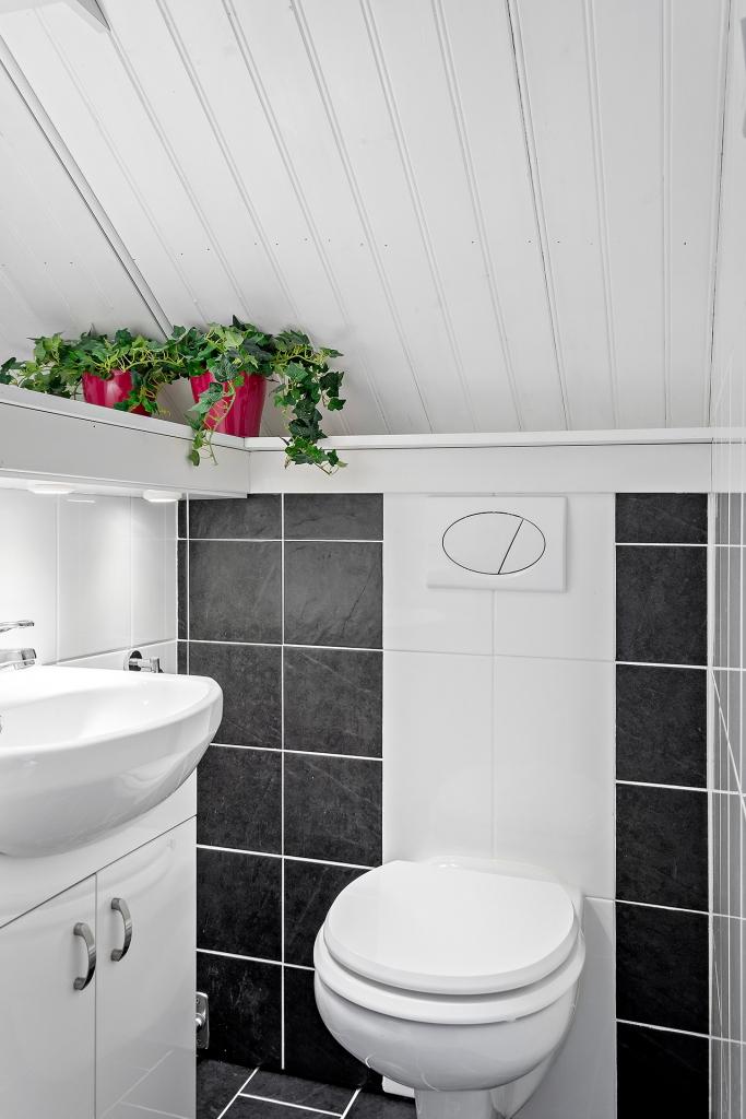 Renoverad toalett -14 på övervåningen