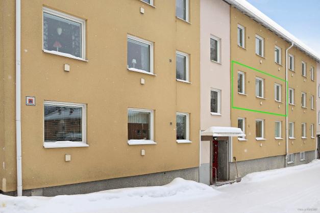 Bostadsrättslägenhet om 2 rok, våning 2 av 3.