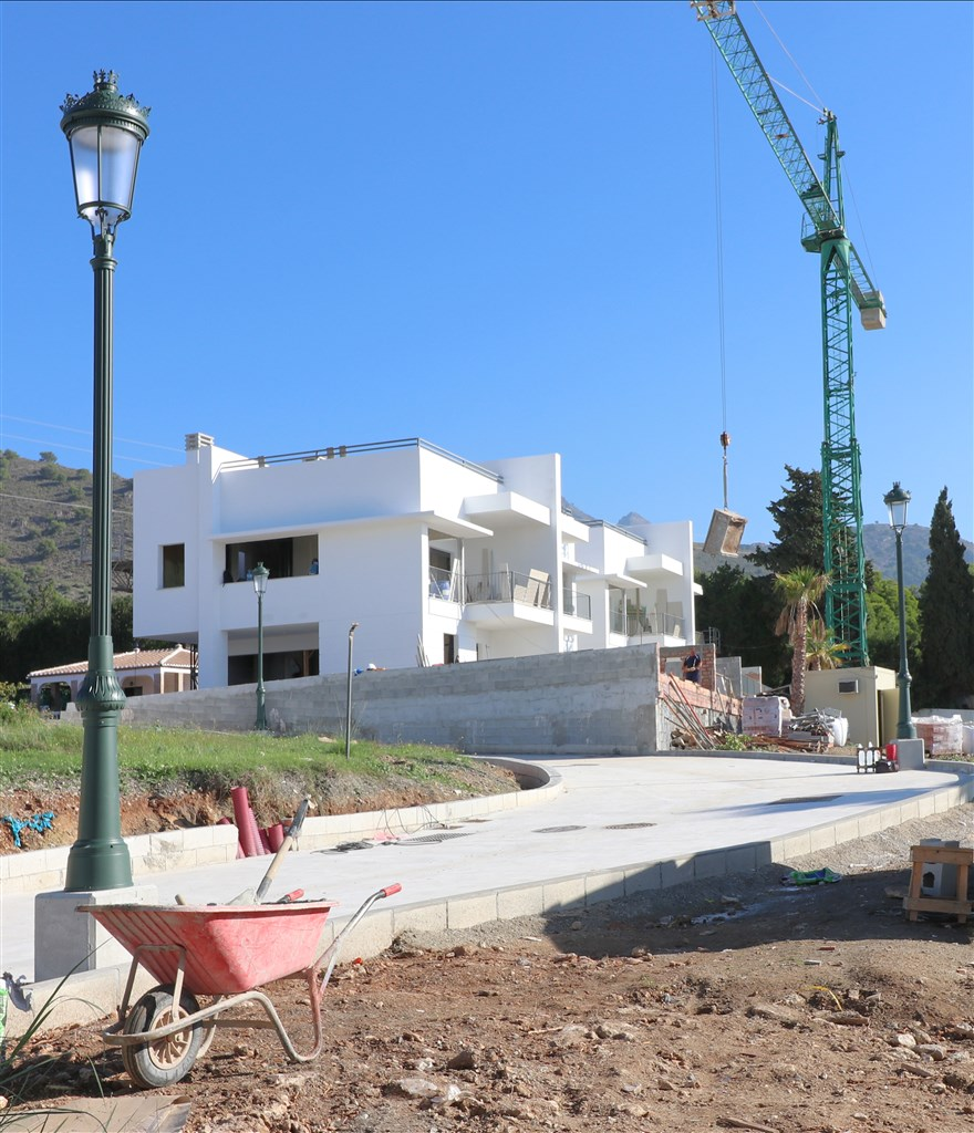 Byggnationen är igång - Bild tagen 25 oktober