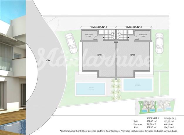 Illustration - Takterrass hus 1 och 2
