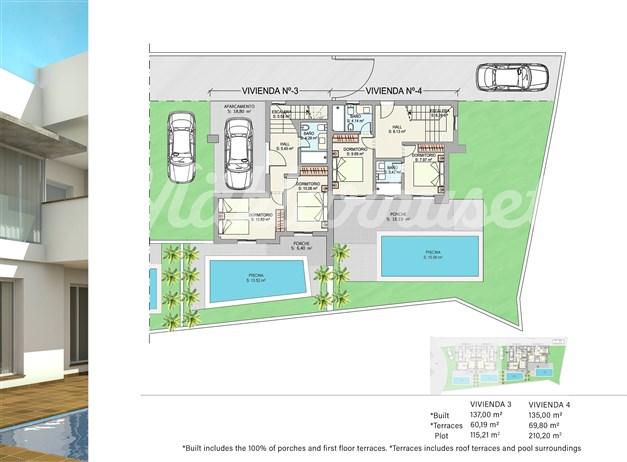Illustration - Entréplan hus 3 och 4