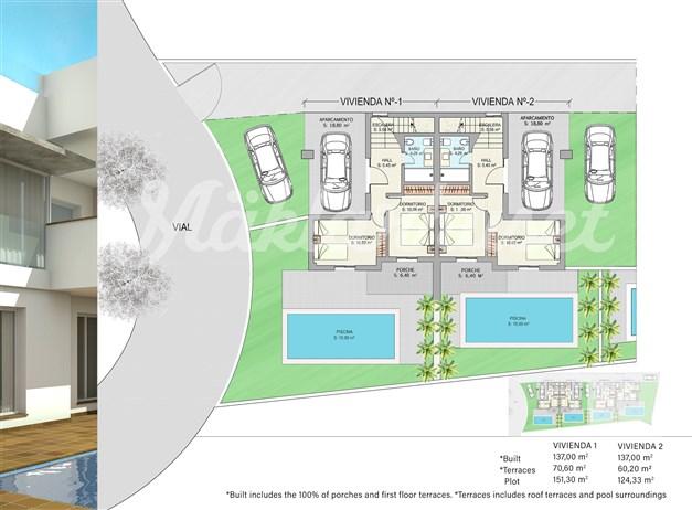 Illustration - Entréplan hus 1 och 2