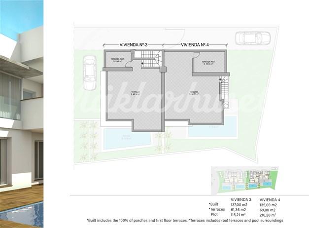Illustration - Takterrass hus 3 och 4