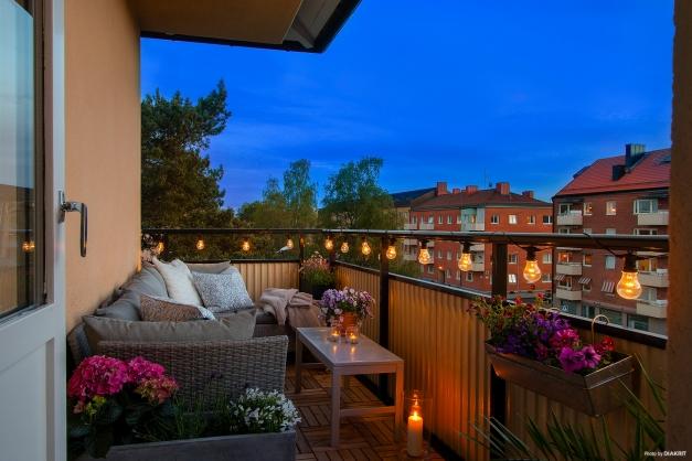 Tänk att sitta här en varm sommarkväll i gott sällskap!