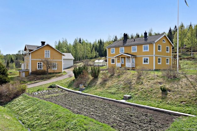 Lantbruksfastighet med fint bostadshus och välskötta ekonomibyggnader.
