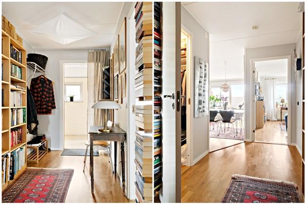 Vackra Kährs trägolv i hall, sovrum och kök