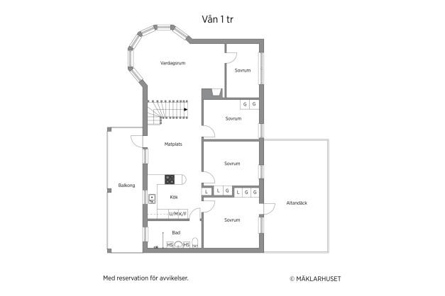 Planritning våningsplanet