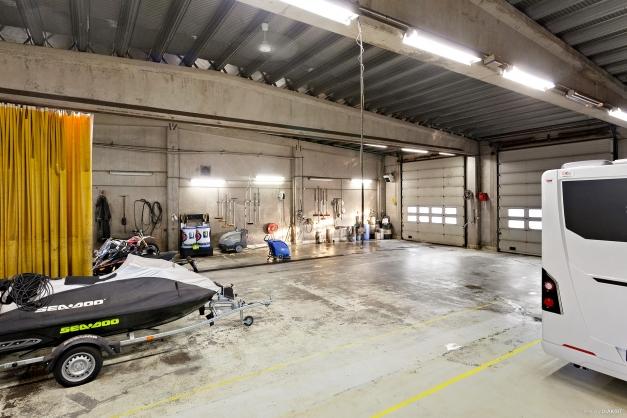 Garage invändigt
