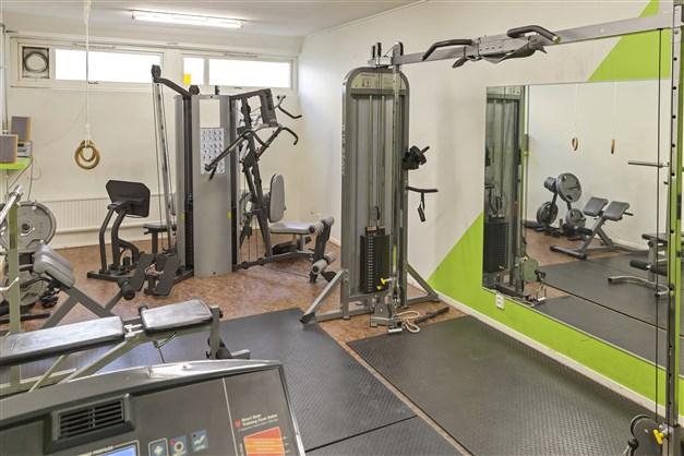 Gemensamt gym i källarplan