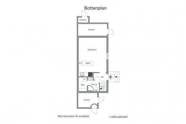 Gårdshus - plan 1
