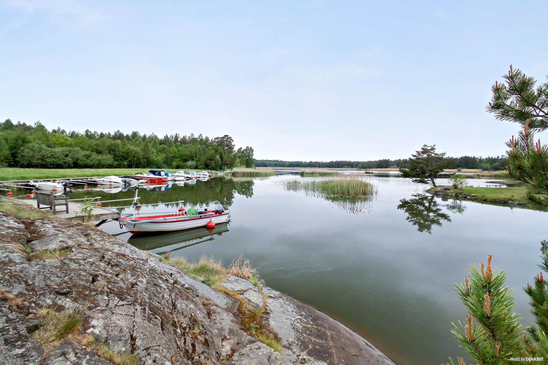 Båthamn vid Hyllingsund