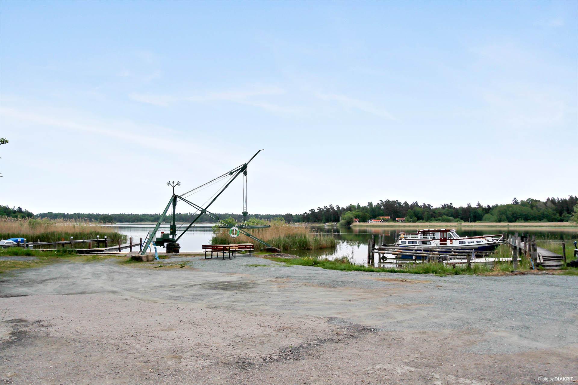 Båthamn i Kävelstocken