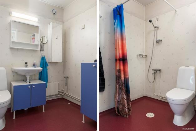 Stort duschrum