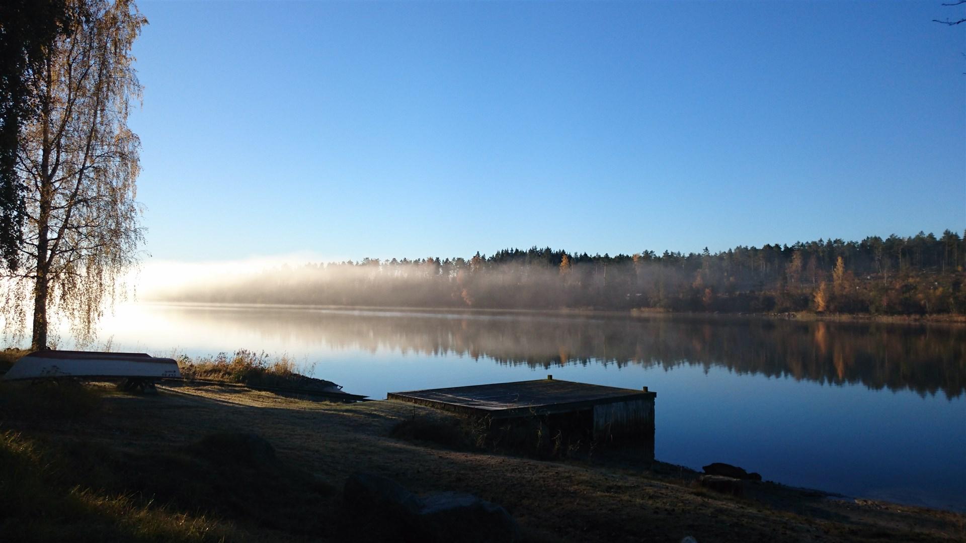 Tidig morgon i Hagafjärden - säljarens egna bild