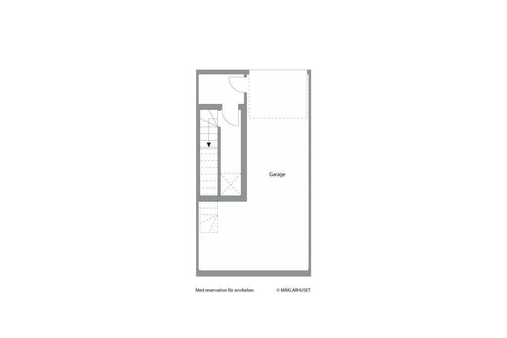 Privat garage med ingång till bostaden