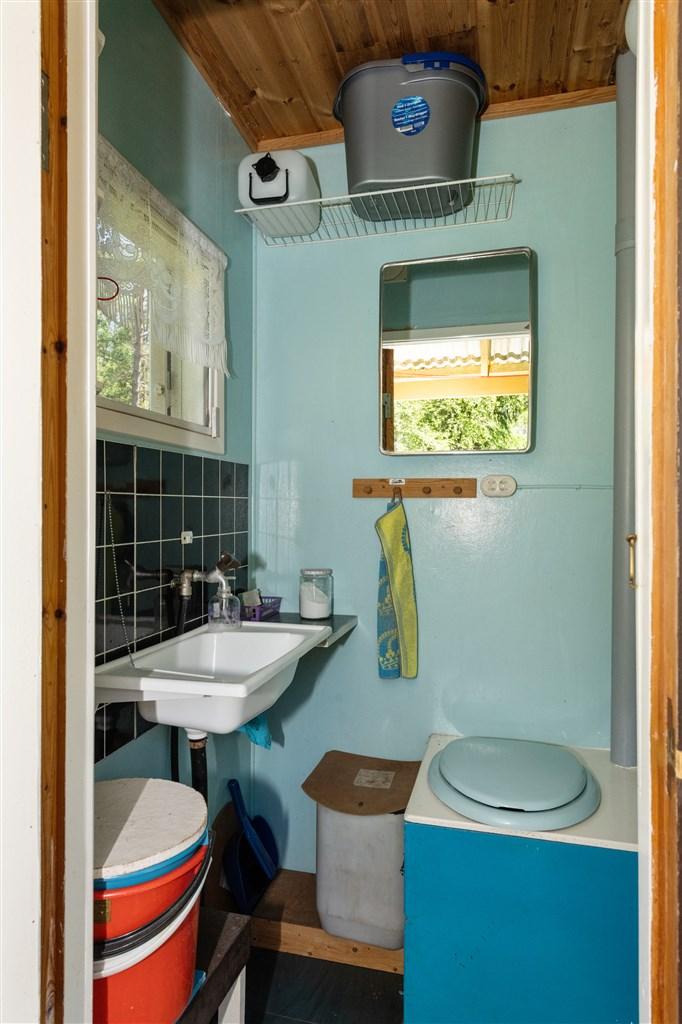 Toaletten vid gästhuset