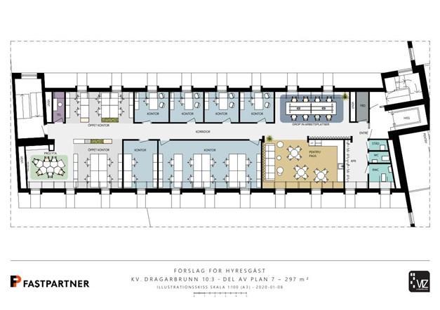 297 m²