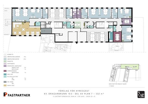 532 m²