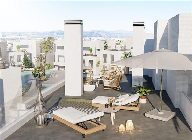 Illustrationsbild -  Terrass mot poolområdet