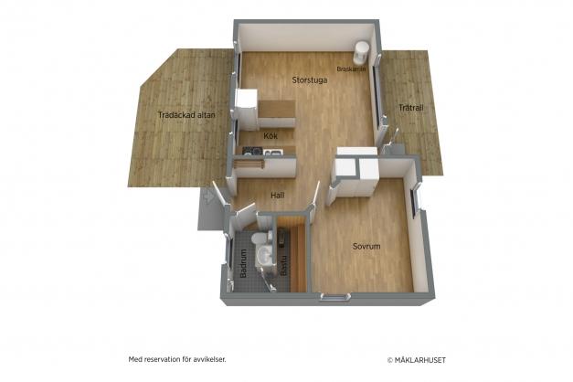 Planlösning bostadshuset