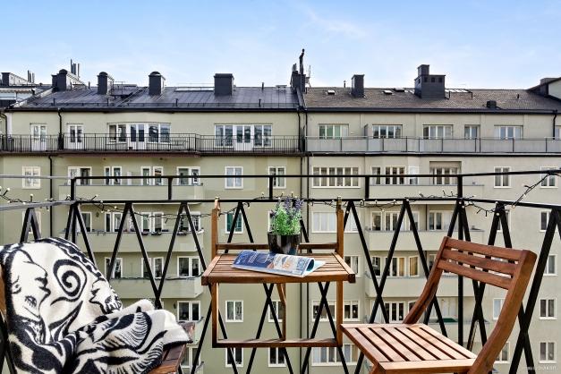 Härlig balkong i högsta möjliga balkongläge