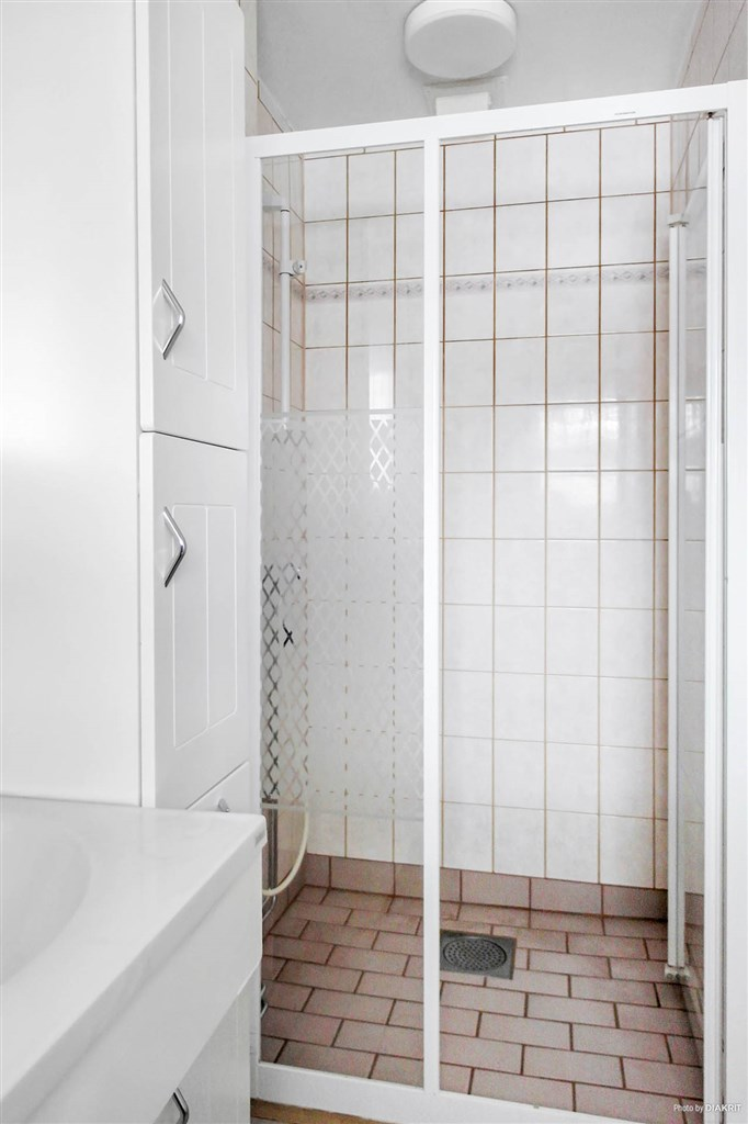 Duschplats i badrum.