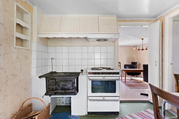 Kök med järnspis