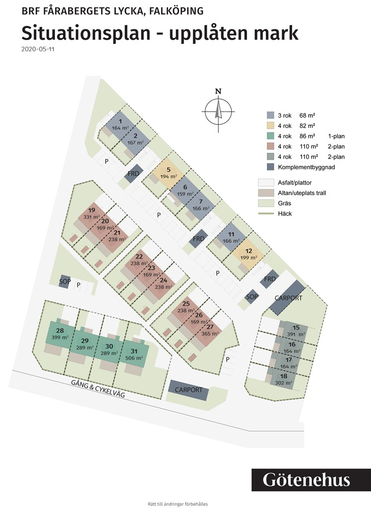 Situationsplan - upplåten mark