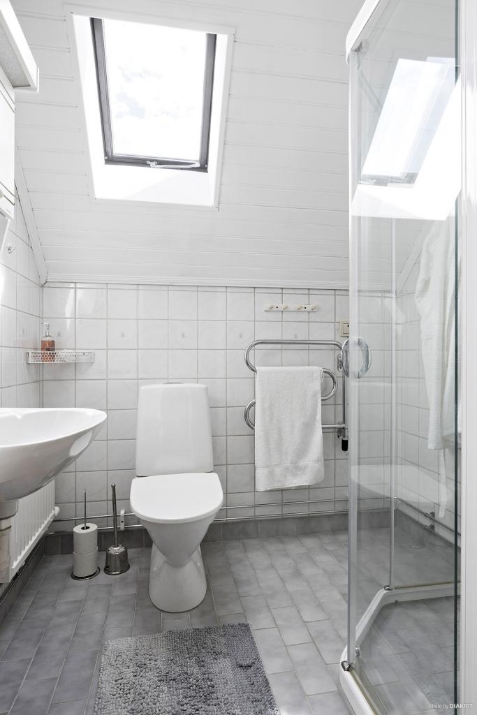 Helkaklad toalett/dusch i ovanplan