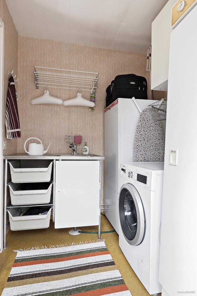 Tvättstuga och groventré