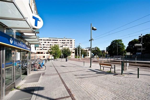 Tunnelbanan på Liljeholmstorget