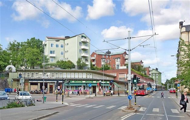 Närbelägna Gröndal erbjuder bland annat butiker, café och bageri.