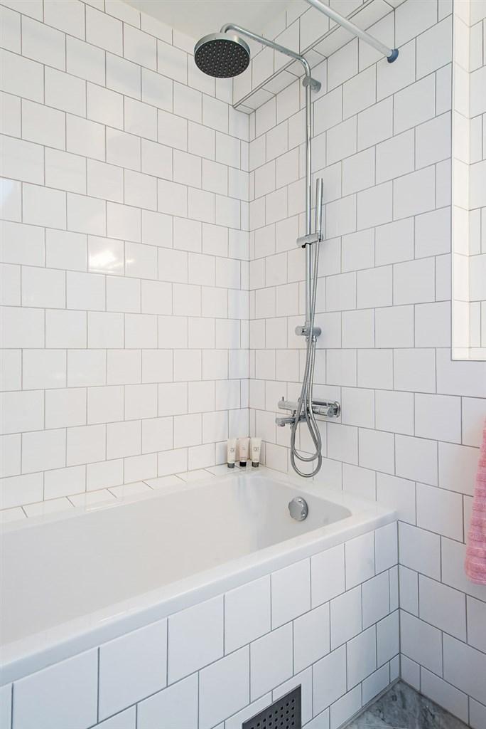 Inbyggt badkar.