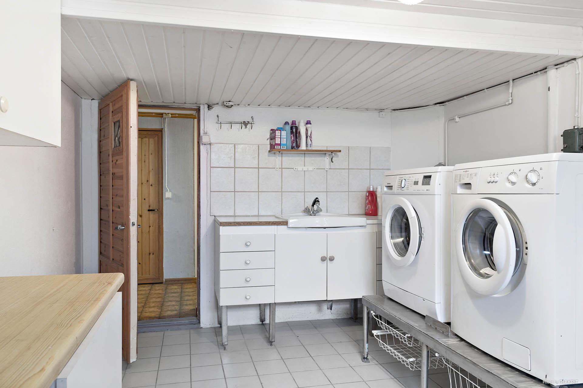 Tvättstugan i källaren
