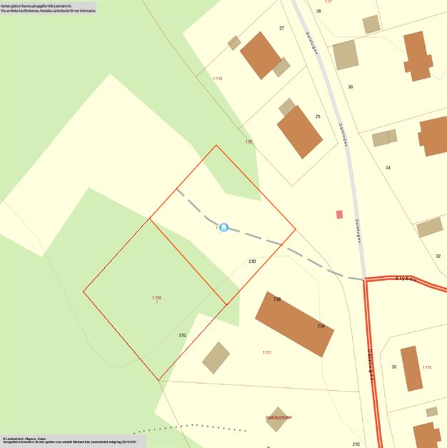 Tomtkarta  Norrköping Simonstorp 1:153 och Norrköping Simonstorp 1:154