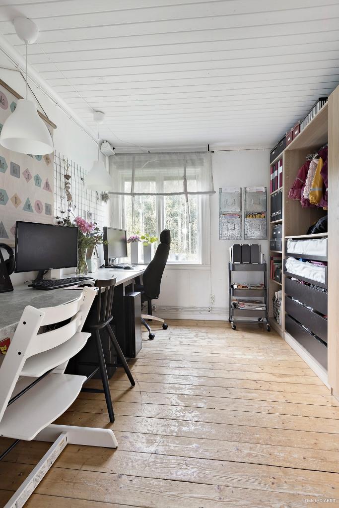 Kontor/sovrum i entréplan